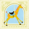 Giraffe Carousel Canvas Reproduction