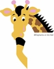 Giraffe Doorhugger Paint by Number Wall Mural