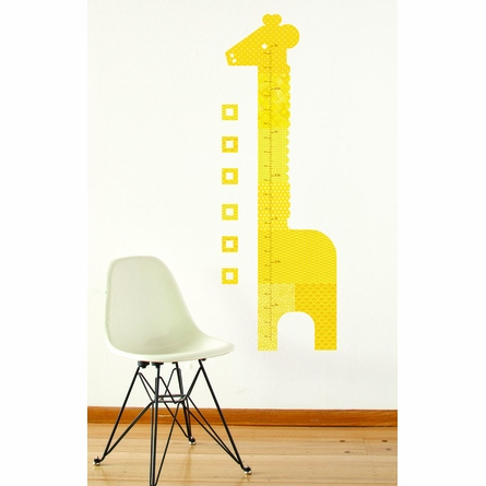 Giraffe Growth Chart Fabric Wall Decal