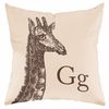 Giraffe in Sand Throw Pillow
