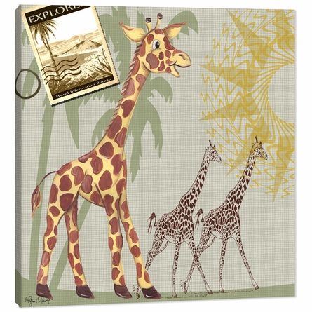 Giraffe Safari Canvas Reproduction