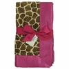 Giraffe with Hot Pink Baby Blanket