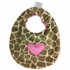 Giraffe with Hot Pink Heart Bib