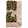 Giraffe with Light Pink Baby Blanket