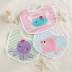 Girl Beach Buddies 3-Piece Bib Gift Set
