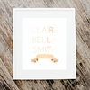Girl Birth Date Personalized Art Print