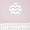 Girl Chevron Personalized Fabric Wall Decal