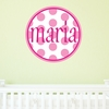 Girl Dots Personalized Fabric Wall Decal