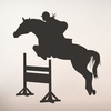 Girl Horse Jumping Chalkboard Wall Decal