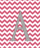 Girl Initial Personalized Chevron Canvas Reproduction