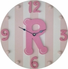 Girl Initial Wall Clock