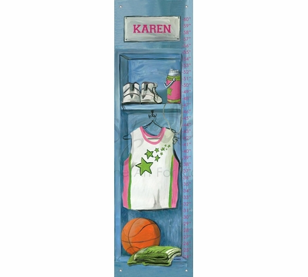 Girl's Basketball Locker Growth Chart