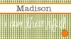 Girl's Gingham Personalized Placemat