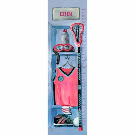 Girl's Lacrosse Locker Growth Chart