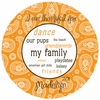 Girl's Paisley Personalized Melamine Plate