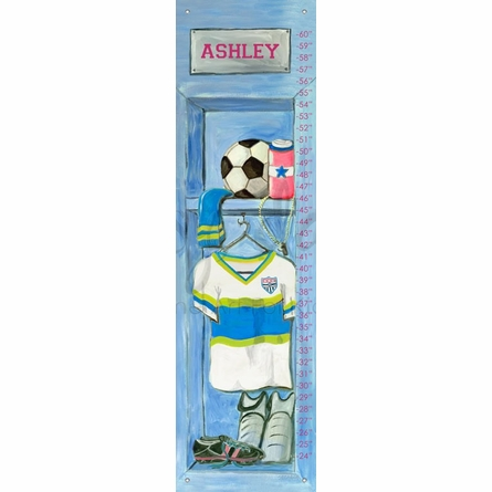 Girl's Soccer Locker Growth Chart
