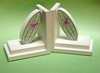 Girl Surfboard Bookends with White Base
