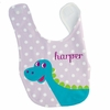 Girls Dinosaur Personalized Bib
