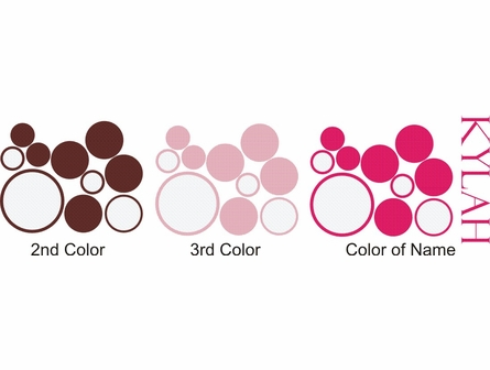 Girls Dots and Circles Wall Decal