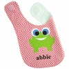 Girls Frog Personalized Bib