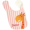 Girls Giraffe Personalized Bib