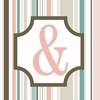 Girls Monogram Ampersand Canvas Reproduction