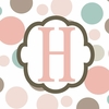 Girls Monogram Canvas Reproduction - H