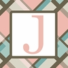 Girls Monogram Canvas Reproduction - J