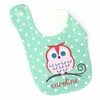 Girls Owl Personalized Bib