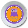 Girls Owl Personalized Melamine Bowl