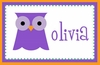 Girls Owl Personalized Placemat