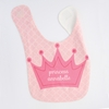 Girls Princess Personalized Bib