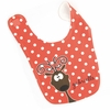 Girls Reindeer Personalized Bib