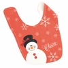 Girls Snowman Personalized Bib