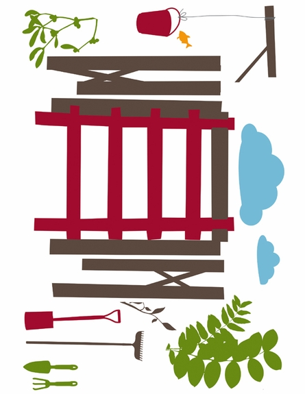 Girls Treehouse Peel & Stick Wall Decals