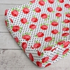 Girly Coral Rose Changing Pad Cover