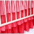 Girly Coral Rose Ruffle Crib Bedding Set