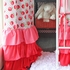 Girly Coral Rose Ruffle Window Panels