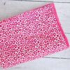 Girly Pink Leopard Crib Blanket