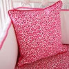 Girly Pink Leopard Square Throw Pillow