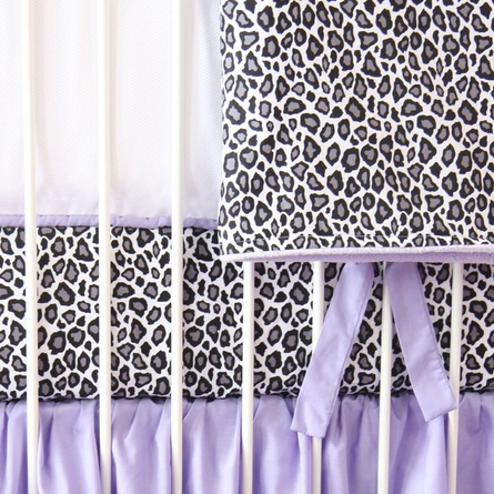 Girly Purple Leopard Crib Blanket