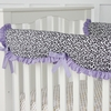 Girly Purple Leopard Crib Rail Cover