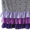 Girly Purple Leopard Ruffle Window Panels