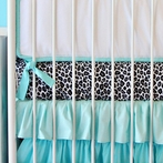 On Sale Girly Silver Leopard Crib Sheet