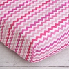 Girly Zig Zag Crib Sheet