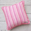 Girly Zig Zag Square Throw Pillow