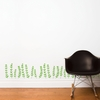 Gitte in Green Wall Decal