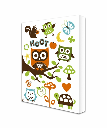Give A Hoot Canvas Reproduction