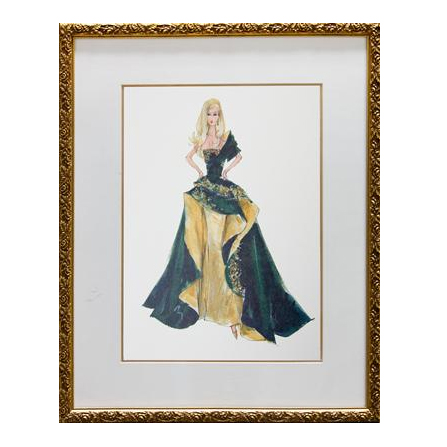 Glamour Framed Couture Barbie Art Print