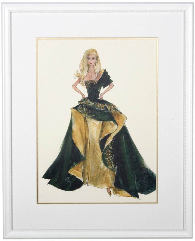 Glamour Framed Couture Barbie Art Print By Art For Kids